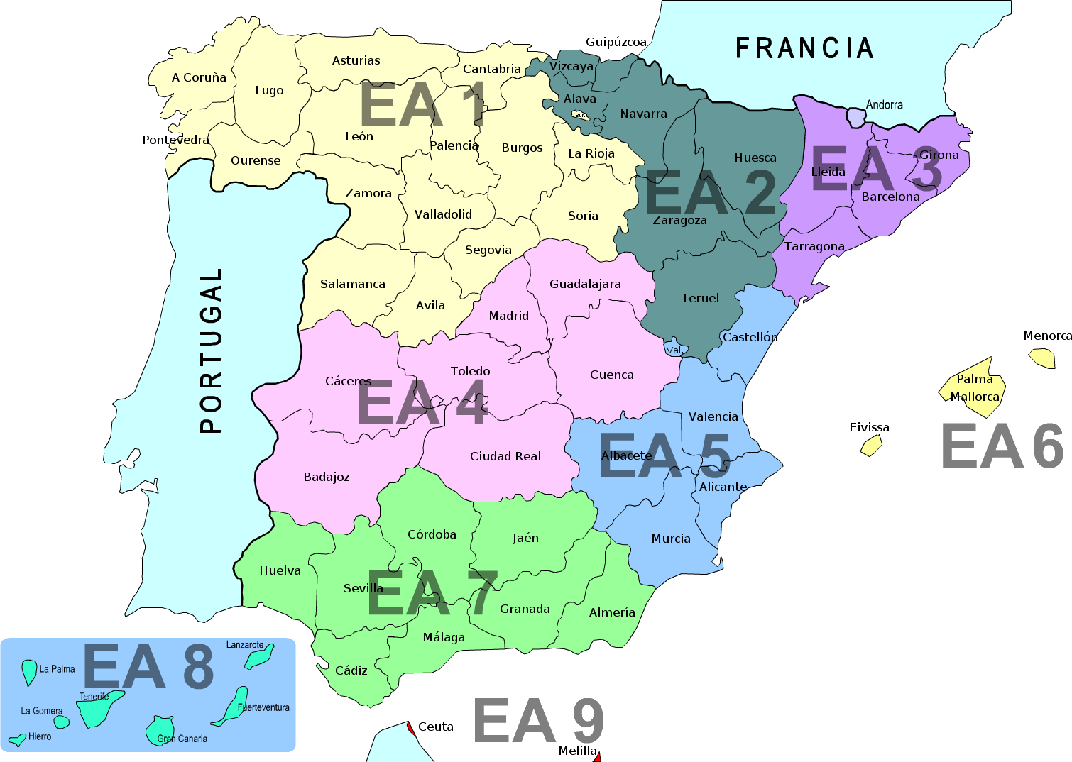 Spanish call districts map gumiabroncs Images
